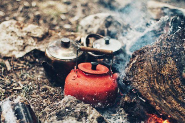 キャンプでの料理